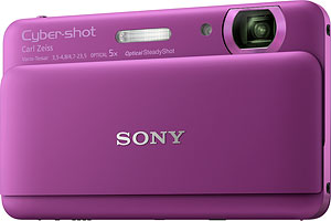 Sony's Cyber-shot DSC-TX55 digital camera. Photo provided by Sony Electronics Inc. Click for a bigger picture!
