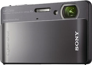 Sony's Cyber-shot DSC-TX5 digital camera. Photo provided by Sony Electronics Inc. Click for a bigger picture!