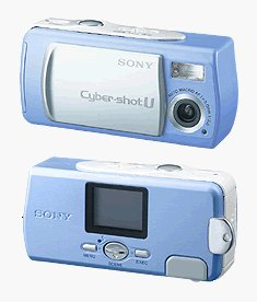 Sony's Cyber-shot U DSC-U10 digital camera. Courtesy of Sony, with modifications by Michael R. Tomkins.