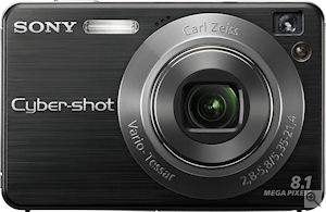 Sony's Cyber-shot DSC-W130 digital camera. Courtesy of Sony, with modifications by Michael R. Tomkins. Click for a bigger picture!