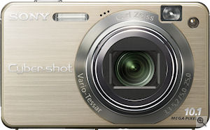 Sony's Cyber-shot DSC-W170 digital camera. Courtesy of Sony, with modifications by Michael R. Tomkins. Click for a bigger picture!