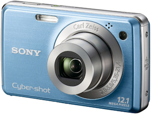 Sony's Cyber-shot DSC-W220 digital camera. Photo provided by Sony Electronics Inc. Click for a bigger picture!
