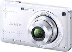 The DSC-W350D digital camera in Precious White. Photo provided by Sony Marketing (Japan) Inc. Click for a bigger picture!