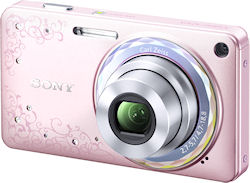 The DSC-W350D digital camera in Jewel Pink. Photo provided by Sony Marketing (Japan) Inc. Click for a bigger picture!