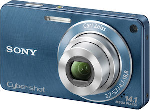 Sony's Cyber-shot DSC-W350 digital camera. Photo provided by Sony. Click for a bigger picture!