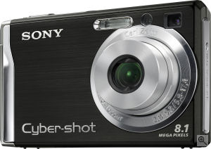 Sony's Cyber-shot DSC-W90 digital camera. Courtesy of Sony, with modifications by Michael R. Tomkins. Click for a bigger picture!