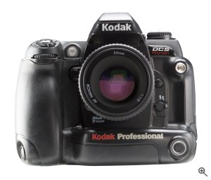 Kodak's DSC Pro 14n digital camera. Courtesy of Eastman Kodak Co., with modifications by Michael R. Tomkins. Click for a bigger picture!