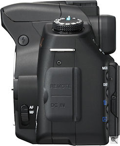 Sony's Alpha DSLR-A350 digital SLR. Courtesy of Sony, with modifications by Michael R. Tomkins. Click for a bigger picture!