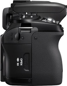 Sony's Alpha DSLR-A500 digital SLR. Photo provided by Sony Electronics Inc. Click for a bigger picture!