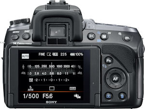 Sony's Alpha DSLR-A550 digital SLR. Photo provided by Sony Electronics Inc. Click for a bigger picture!