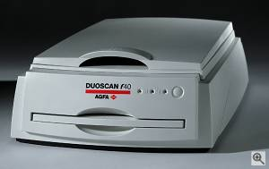 Agfa's DUOSCAN f40 scanner. Courtesy of Agfa-Gevaert  N.V. Click for a bigger picture!