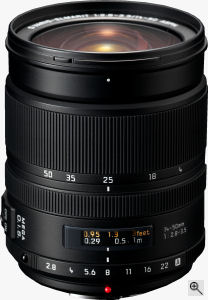 Leica's D VARIO-ELMARIT 14-50mm/F2.8-3.5 ASPH lens. Courtesy of Panasonic, with modifications by Michael R. Tomkins. Click for a bigger picture!