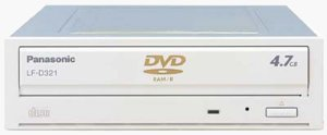 Panasonic's DVDBurnder II drive. Courtesy of Panasonic, with modifications by Michael R. Tomkins.