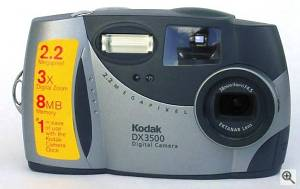 Kodak's DX3500 digital camera, front view. Courtesy of an anonymous reader - click for a bigger picture!