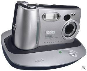 Kodak's EasyShare DX3900 Zoom digital camera. Courtesy of Eastman Kodak Co. Click for a bigger picture!