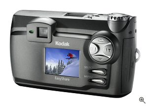 Kodak's EasyShare DX4900 digital camera. Courtesy of Eastman Kodak Co., with modifications by Michael R. Tomkins. Click for a bigger picture!