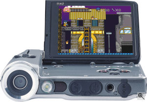 DXG's DXG-589V digital camera. Courtesy of DXG, with modifications by Michael R. Tomkins. Click for a bigger picture!