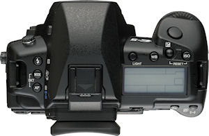 Olympus' E-5 digital SLR. Photo provided by Olympus Imaging America Inc. Click for a bigger picture!