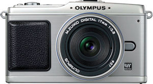 Olympus' E-P1 digital camera. Photo provided by Olympus Imaging America Inc. Click for a bigger picture!