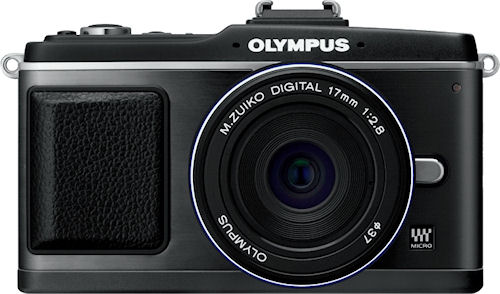 Olympus' PEN E-P2, black-bodied version. Photo provided by Olympus Imaging America Inc. Click for a bigger picture!