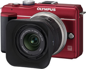 Olympus' Pen Lite E-PL1s digital camera. Photo provided by Olympus Corp.