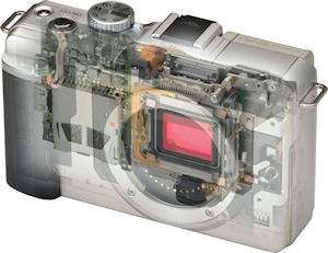 Olympus' E-PL1 digital camera. Copyright © 2010, Imaging Resource. All rights reserved. Click for a bigger picture!