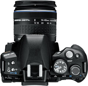 Olympus' E-600 digital SLR. Photo provided by Olympus Imaging America Inc. Click for a bigger picture!