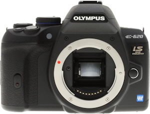 Olympus' E-620 digital SLR. Copyright © 2009, Imaging Resource. All rights reserved. Click for a bigger picture!
