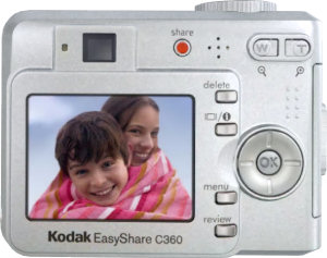Kodak's EasyShare C360 Zoom digital camera. Courtesy of Kodak, with modifications by Michael R. Tomkins.