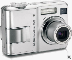 Kodak's EasyShare C533 digital camera. Courtesy of Kodak, with modifications by Michael R. Tomkins. Click for a bigger picture!