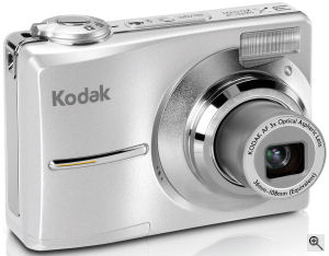 Kodak's EasyShare C613 digital camera. Courtesy of Kodak, with modifications by Michael R. Tomkins. Click for a bigger picture!