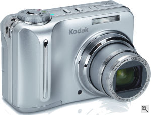 Kodak's Easyshare C875 digital camera. Courtesy of Kodak, with modifications by Michael R. Tomkins. Click for a bigger picture!