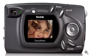Kodak's EasyShare CX4200 digital camera. Courtesy of Eastman Kodak CO., with modifications by Michael R. Tomkins.