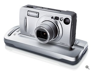 Kodak's EasyShare LS443 digital camera. Courtesy of Kodak, with modifications by Michael R. Tomkins. Click for a bigger picture!