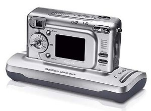 Kodak's EasyShare LS443 digital camera. Courtesy of Kodak, with modifications by Michael R. Tomkins.
