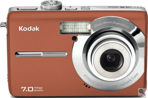 Kodak's EasyShare M753 digital camera. Courtesy of Kodak, with modifications by Michael R. Tomkins. Click for a bigger picture!