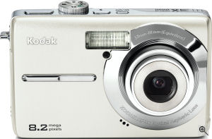 Kodak's EasyShare M853 digital camera. Courtesy of Kodak, with modifications by Michael R. Tomkins. Click for a bigger picture!