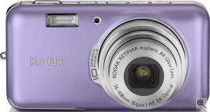 Kodak's EasyShare V1003 digital camera. Courtesy of Kodak, with modifications by Michael R. Tomkins. Click for a bigger picture!