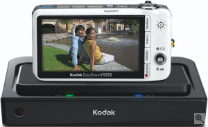 Kodak's EasyShare Z812 IS digital camera. Courtesy of Kodak, with modifications by Michael R. Tomkins. Click for a bigger picture!