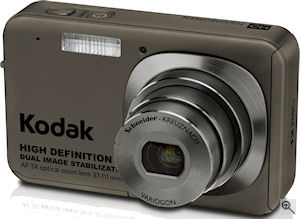 Kodak's EasyShare V1273 digital camera. Courtesy of Kodak, with modifications by Michael R. Tomkins. Click for a bigger picture!