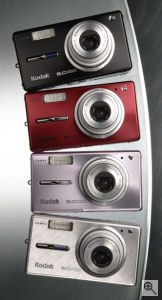 Kodak's EasyShare V530 digital camera. Courtesy of Eastman Kodak Co., with modifications by Michael R. Tomkins. Click for a bigger picture!