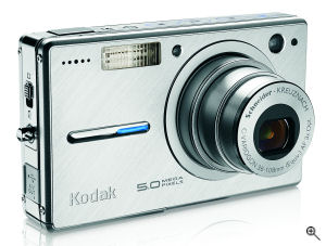 Kodak's EasyShare V550 digital camera. Courtesy of Eastman Kodak Co., with modifications by Michael R. Tomkins. Click for a bigger picture!