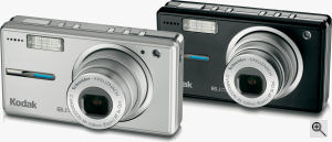 Kodak's EasyShare V603 digital camera. Courtesy of Kodak, with modifications by Michael R. Tomkins. Click for a bigger picture!