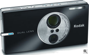Kodak's EasyShare V610 digital camera. Courtesy of Kodak, with modifications by Michael R. Tomkins. Click for a bigger picture!