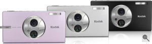 Kodak's Easyshare V705 digital camera. Courtesy of Kodak, with modifications by Michael R. Tomkins. Click for a bigger picture!