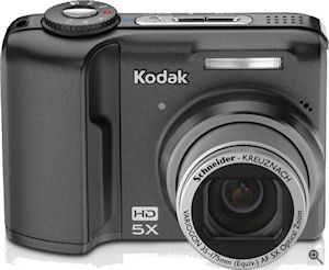Kodak's EasyShare Z1085 IS digital camera. Courtesy of Kodak, with modifications by Michael R. Tomkins. Click for a bigger picture!