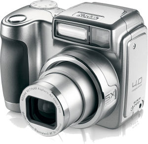 Kodak's EasyShare Z700 digital camera. Courtesy of Eastman Kodak Co., with modifications by Michael R. Tomkins. Click for a bigger picture!