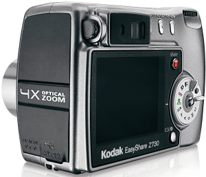 Kodak's EasyShare Z730 digital camera. Courtesy of Kodak, with modifications by Michael R. Tomkins. Click for a bigger picture!