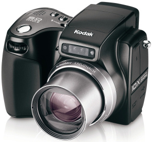 Kodak's EasyShare Z7590 digital camera. Courtesy of Kodak, with modifications by Michael R. Tomkins. Click for a bigger picture!