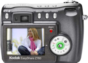 Kodak's EasyShare Z760 digital camera. Courtesy of Eastman Kodak Co., with modifications by Michael R. Tomkins.